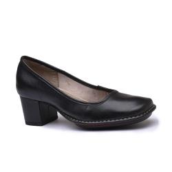 Sapato em Couro Galeany Médio Preto J.Gean - AR001... - J.Gean