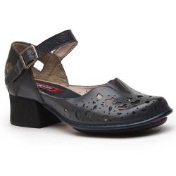 Sapato feminino boneca J.Gean Kelly salto grosso e... - J.Gean