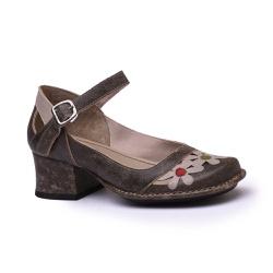Sapato New Kelly Café Em Couro J.Gean - CK0124-CK... - J.Gean