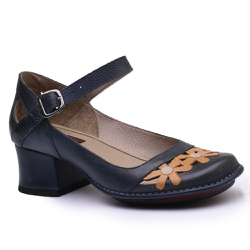 Sapato New Kelly DarkBlue Em Couro J.Gean - CK012... - J.Gean