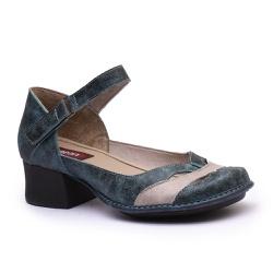 Sapato New Kelly Denin Em Couro J.Gean - CK0125-C... - J.Gean