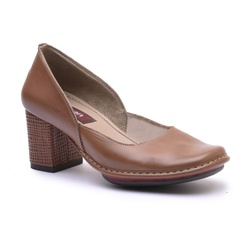 Sapato Galeany Alto Em Couro Amêndoa J.Gean - AR0... - J.Gean