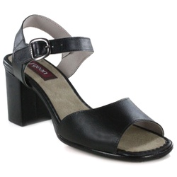 Sandália Em Couro Alta Preta J.Gean Outlet - BP008... - J.Gean