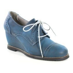 Sapato em Couro Susan Anabela Alto Safira J.Gean O... - J.Gean