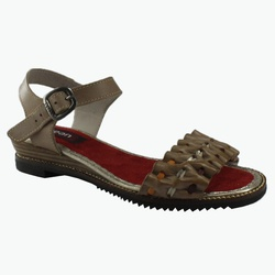 Sandália Em Couro Susan Baixa Pele J.Gean Outlet ... - J.Gean