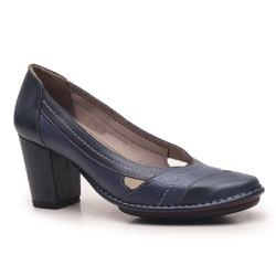Sapato Ibizza Em Couro Navy J.Gean Outlet - EC0004... - J.Gean