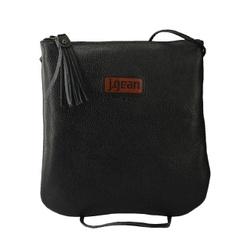 Bolsa de Mão Em Couro Preta J.Gean - NC0005-NC000... - J.Gean