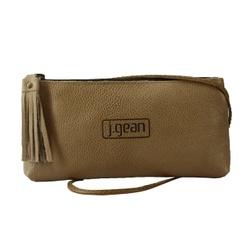 Bolsa de Mão Em Couro Aveia J.Gean - NC0002-NC0002... - J.Gean