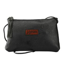 Bolsa de Mão Em Couro Preta J.Gean - NC0004-NC000... - J.Gean