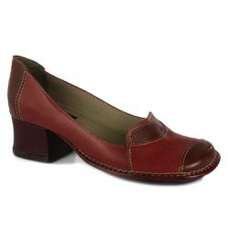 Sapato feminino Retrô J.Gean Kelly salto grosso em... - J.Gean