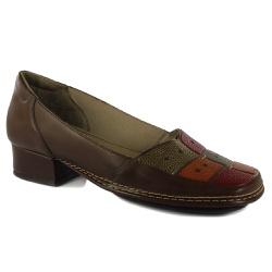 Sapato New Mariah Em Couro Coffee J.Gean - DX0002-... - J.Gean