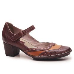 Sapato Ibizza Médio Em Couro Marrone J.Gean - EC00... - J.Gean