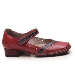 Sapato New Mariah Em Couro Rouge J.Gean - DX0016-... - J.Gean