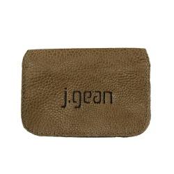 Porta Cartão 100% Em Couro Castanho J.Gean - PC000... - J.Gean