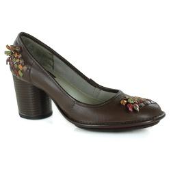 Sapato Lolla Alto em couro Coffee J.Gean OUTLET - ... - J.Gean