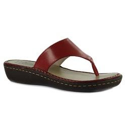Sandália Jade Em Couro Rouge J.Gean - EE0013-EE001... - J.Gean