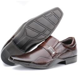 Sapato Social Executivo Forro Em Couro Cor Castanh... - KÉFFOR Calçados