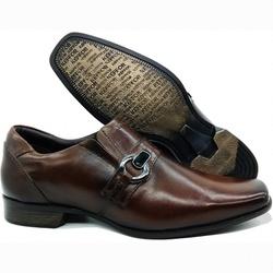 Sapato Social Executivo Em Couro Confort Marrom Ké... - KÉFFOR Calçados
