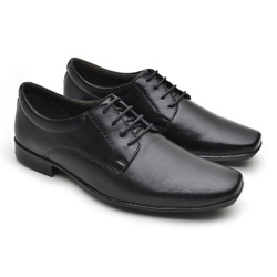 Sapato Social Fortaleza Couro - Preto