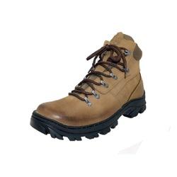 Bota Coturno Adventure em couro Mega boots 17001 Kaki