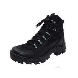 Bota Coturno Adventure em couro Mega boots 17003 Preto