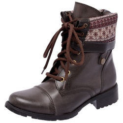COTURNO MEGA BOOTS 3007 Cafe-Etnico - Mega Boots