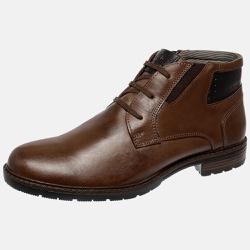 Bota Urbana em Couro Mega Boots Chocolate - Preto 50001