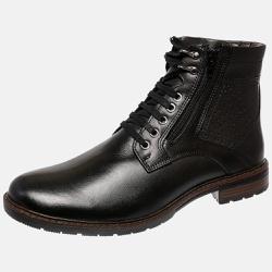 Bota Urbana em Couro Mega Boots Preto 50004