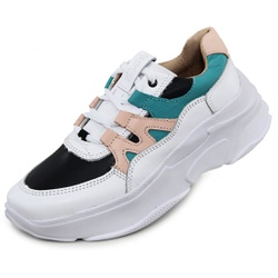 Tênis Sneaker Feminino em Couro Branco