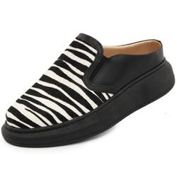Tênis Casual Maia Preto-Zebra