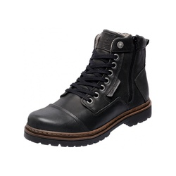 Bota Coturno em Couro Mega Boots 6017 Preto - Mega Boots