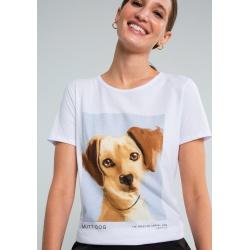 T-shirt estampada Mutt dog -LEZALEZ - 132650 - Loja Mônica's