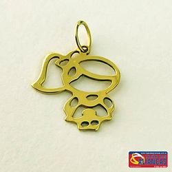 Pingente Menina Vazado Em Ouro 18k - 01068559 - LOJAODASALIANCAS