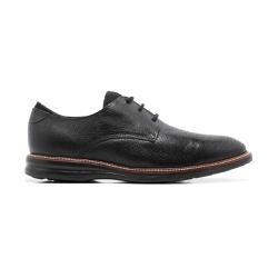 Sapato Masculino Casual Quebec Lecce Preto em Cour... - Quebec
