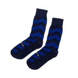 Meia Social Quebec Listrada Blue Two - M10 - Quebec