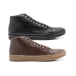Combo 2 Tenis Quebec Mike Brown em Couro - Brown e Black