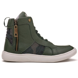 Tênis Masculino Casual Rock Fit Oasis Em Couro Ver... - ROCK FIT