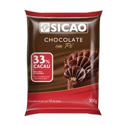 Chocolate em Pó 33% Cacau Sicao 300g-loja-sabrina