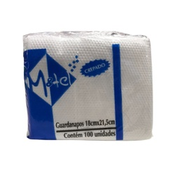 Guardanapo Pequeno Crepado 18x21,5cm c/100und loja embalagens sabrina