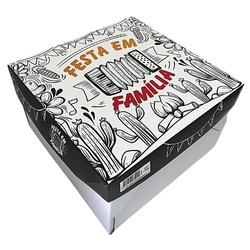 Caixa Bolo/ Festa na Caixa 29x29x17cm Festa em família loja embalagens sabrina