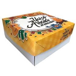 Caixa Bolo/ Festa na Caixa 35x35x5 cm Arraiá loja embalagens sabrina
