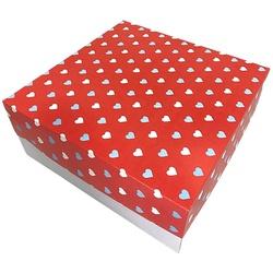 Caixa Bolo/ Festa na Caixa 27x27x15 cm Coração loja embalagens sabrina