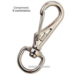 Mosquetão Cromado G (9 cm) - Atacado Selaria Pinheiro