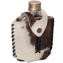 Porta Whisky Revestido em Couro Natural com Pêlos - Atacado Selaria Pinheiro