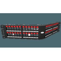 Patch panel descarregado 48p angular 2u - Telcabos Loja Online