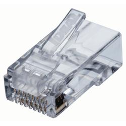 Pacote com 50 conectores rj-45 feed-thru (cat... - Telcabos Loja Online