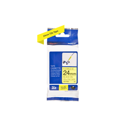 Fita flexivel tze-fx651 24mm preto/amarelo - Telcabos Loja Online