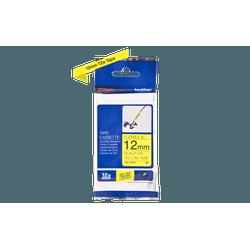 Fita flexivel tze-fx631 12mm preto/amarelo - Telcabos Loja Online