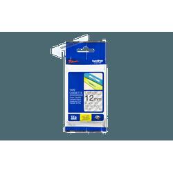 FITA LAMINADA TZE-131 12MM PRETO/TRANSPARENTE - Telcabos Loja Online