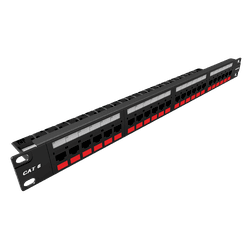 Patch panel gigalan cat.6 24 posicoes t568a/b - Telcabos Loja Online